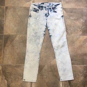 Madewell Acid Wash Straight Leg Jeans Blue 26